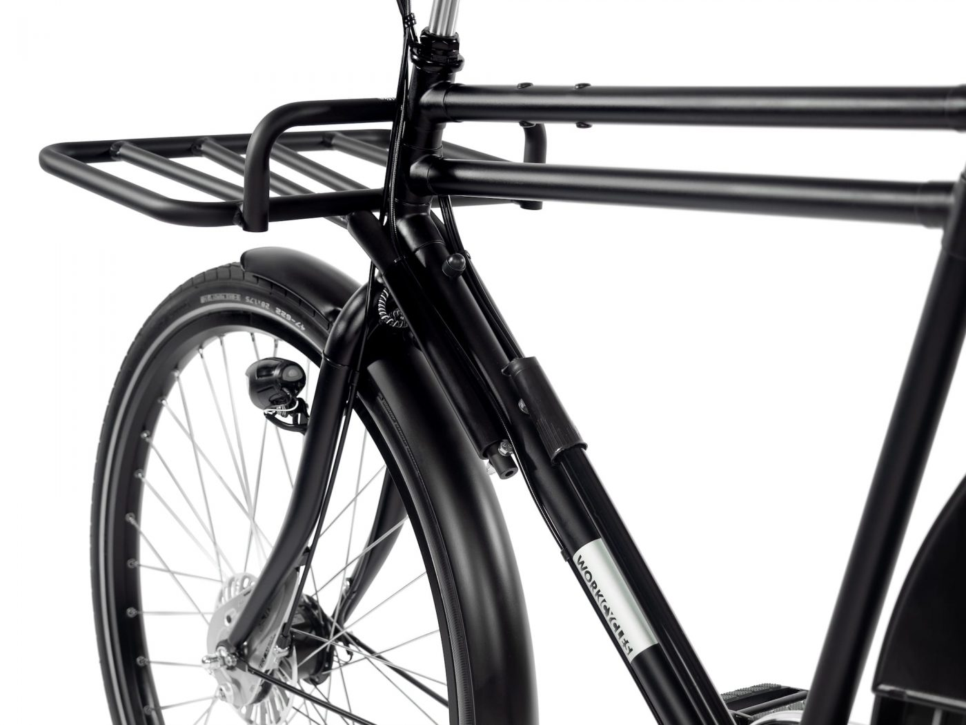 This incredibly handy rack is fixed to the frame so it can carry huge loads without influencing your bike's handling.
