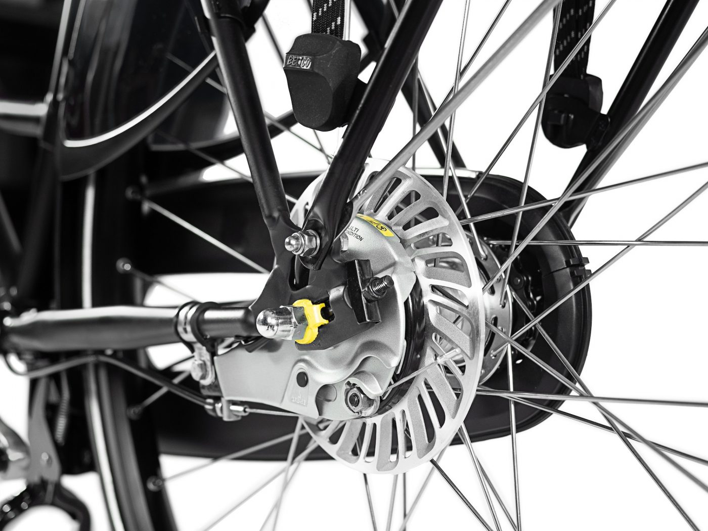 All WorkCycles bikes have fully enclosed hub gears, mostly from Shimano: foolproof shifting, nearly maintenance free and out of harm's way. You can even shift while stopped, a very handy feature when riding for transportation.