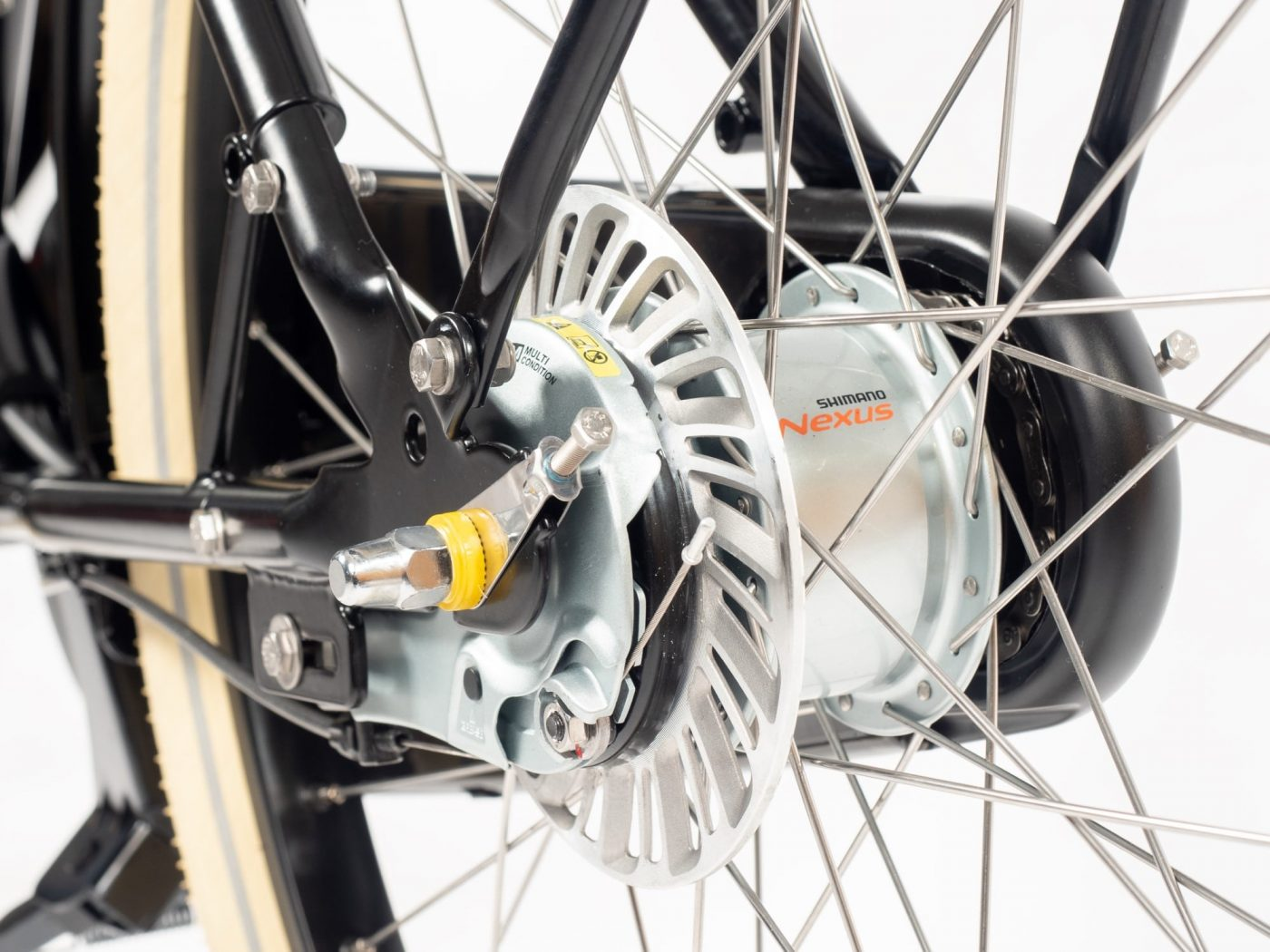 The 'Escape Hatch' On other bicycles changing rear tires and inner tubes is a time consuming job requiring an experienced mechanic. The Fr8's proprietary Escape Hatch enables the rear tire to be changed quickly, without touching the enclosed drivetrain.