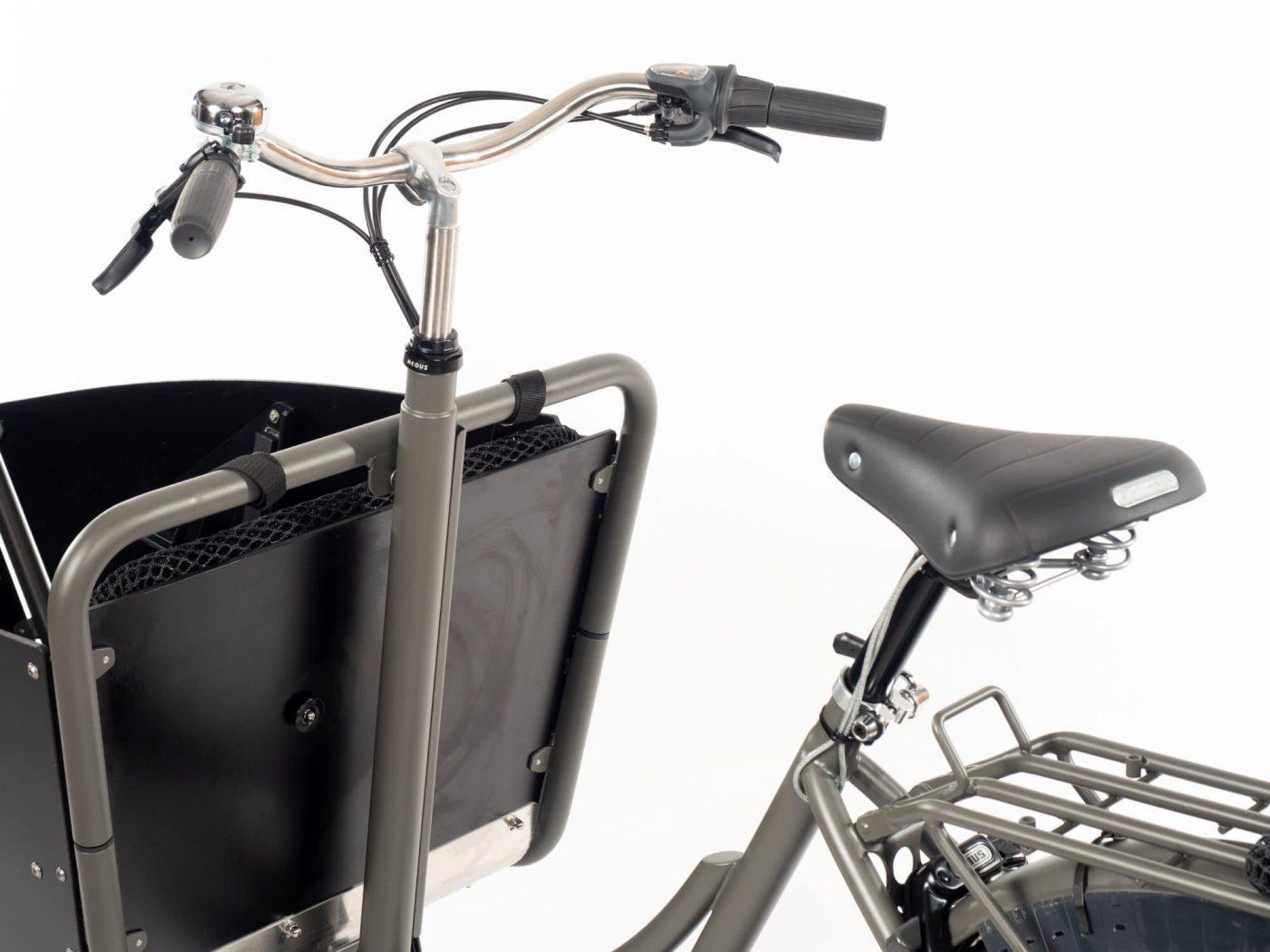 WorkCycles Kr8 bakfiets, child transport bike, dutch city bike, Cockpit options standard