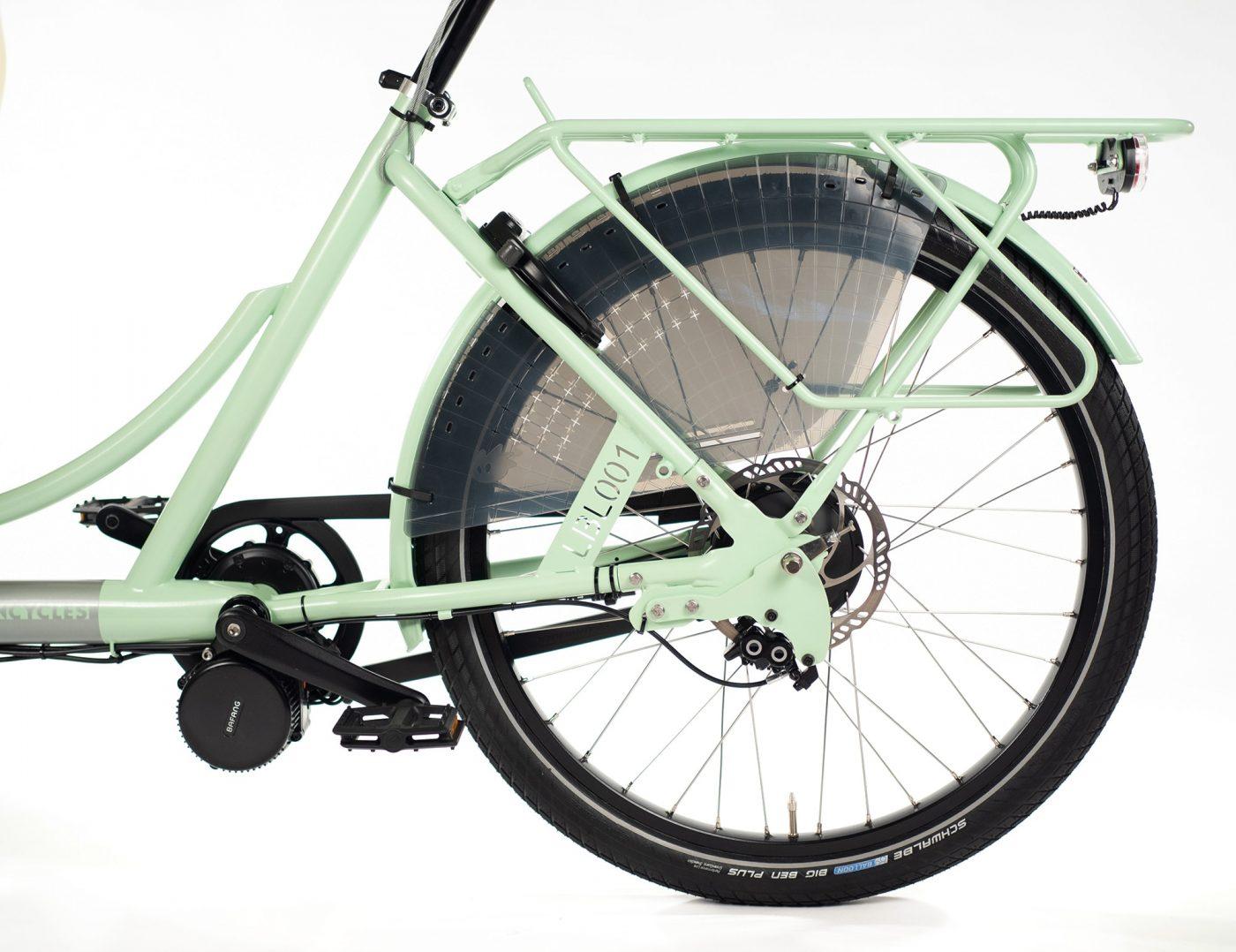 WorkCycles Kr8 MAD bakfiets, child transport bike, dutch e bikes, escape hetch, rear carrier