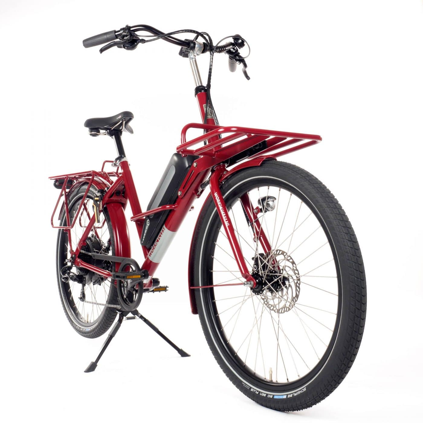 A deluxe electric assist version of our versatile and sweet riding Fr8 transport bike. The Fr8 'RWD' (Rear Wheel Drive) is a smooth and sophisticated electric assist system made by Neodrives in Germany.